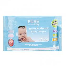 Pure Baby Hand and Mouth Baby Wipes Aloevera 10s