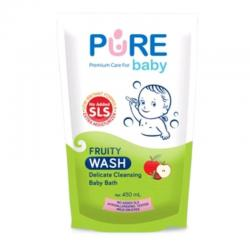 Pure Baby Wash 2 In 1 Fruity Refill 450ml