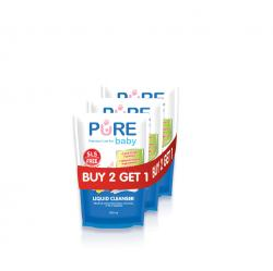 Pure Baby Liquid Cleanser Refill 450ml Buy 2 Get 1 Free