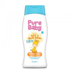 Pure Baby Hair and Body Wash with Colostrum Extract and Almond Oil 200ml