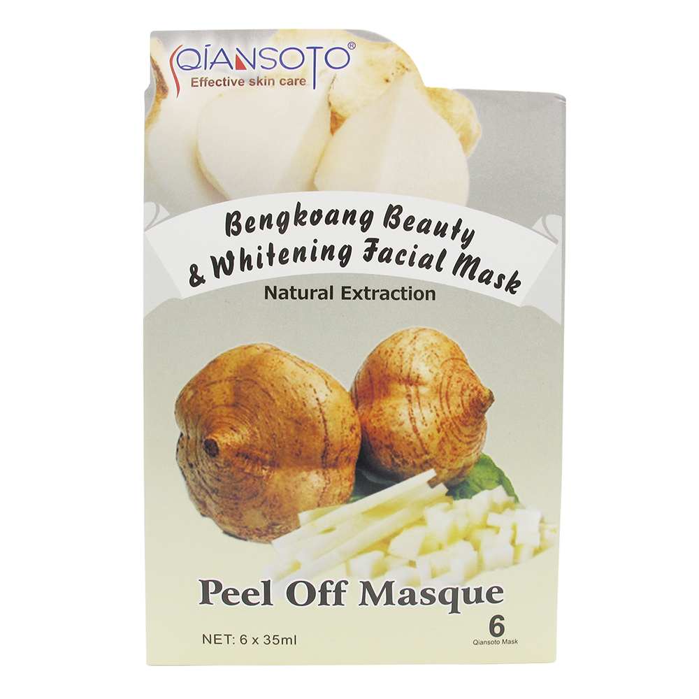 Qiansoto Bengkoang Beauty & Whitening Facial Mask (1 Box @6 Sachet) | Gogobli