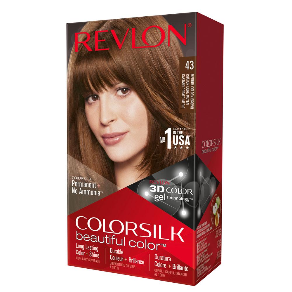 revlon hair color colorsilk medium golden brown 43 gogobli