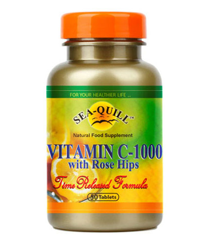 Sea-Quill Vitamin C-1000 With Rose Hips 50 Tablet