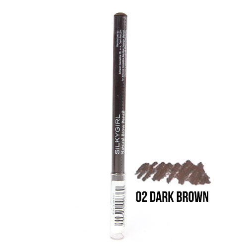 Silkygirl Natural Brow Pencil 02 Dark Brown