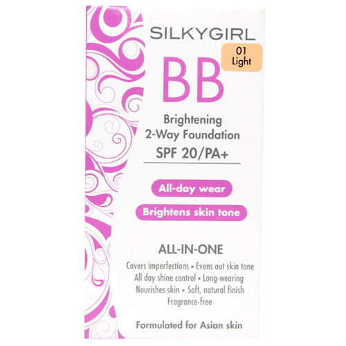 Silkygirl Bb Brightening 2-Way Foundation 10 Gr 01 Light