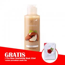 SK7 Brazil Nuts Shower Cream 100ml (GRATIS 1pc SK7 Rose Nourishing Mask 22ml)