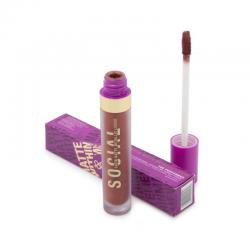 Social Cosmetics Matte Within Me Metallic Liquid Lipstick The Performer - Plum Brown