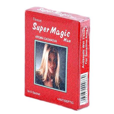 tissue super magic man casanova 6 sachet gogobli