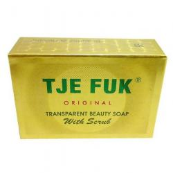 Tje Fuk Transparent Soap Beautiful With Scrub Kuning 100gr