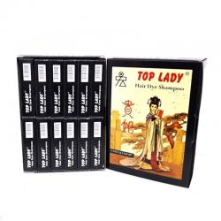 Top Lady Princess Hair Dye Shampo 6 Sachet @ 3gr Serbuk (1 Box @ 12 Dus)