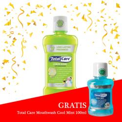 Total Care Mouthwash Lemon Herbs Protection 250ml (GRATIS Total Care Mouthwash Cool Mint 100ml)