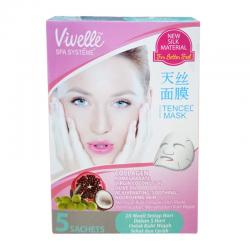 Vivelle Face Mask Pomegranate 25gr Box isi 5 sachet