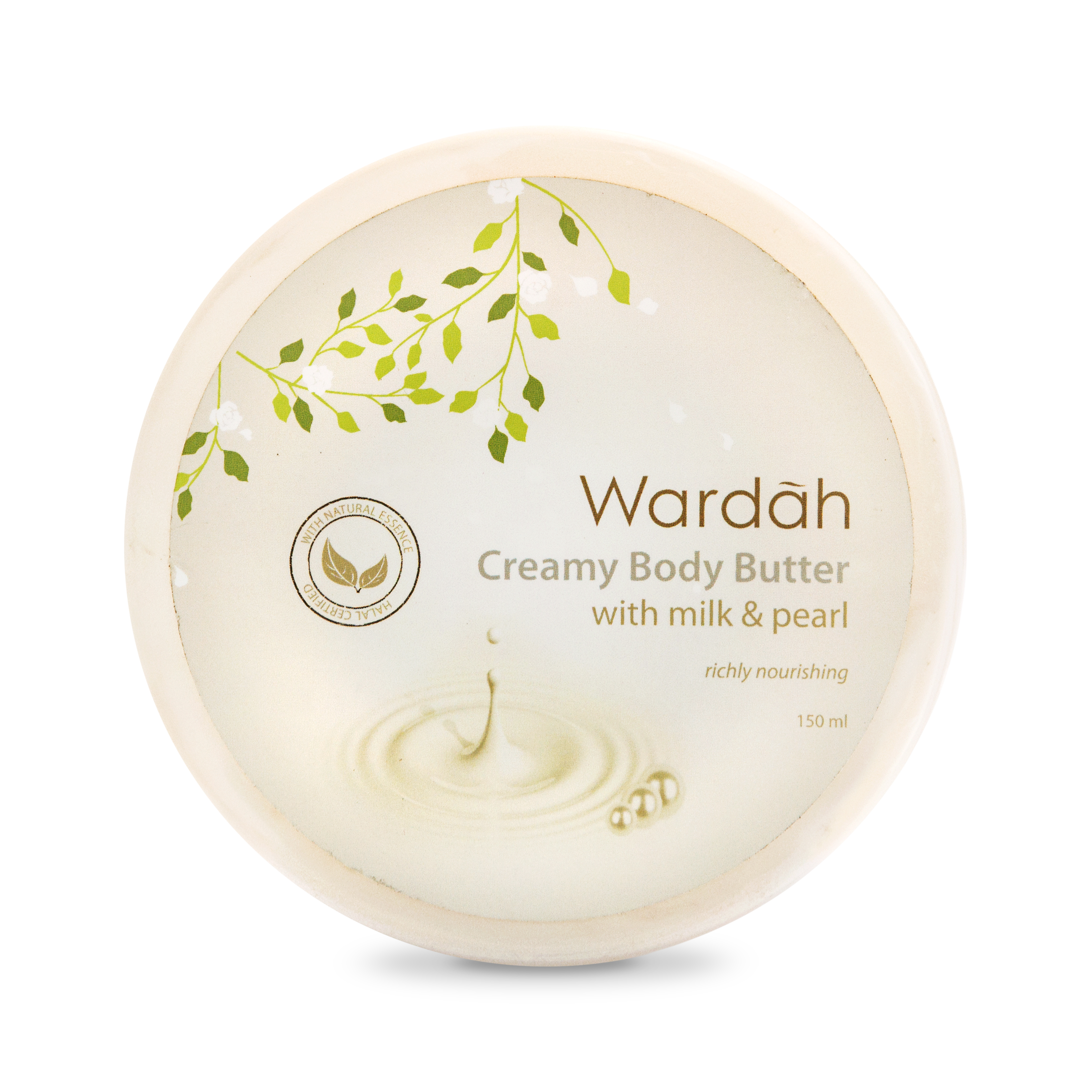 Wardah Creamy Body Butter Milk &Amp; Pearl 150 Ml