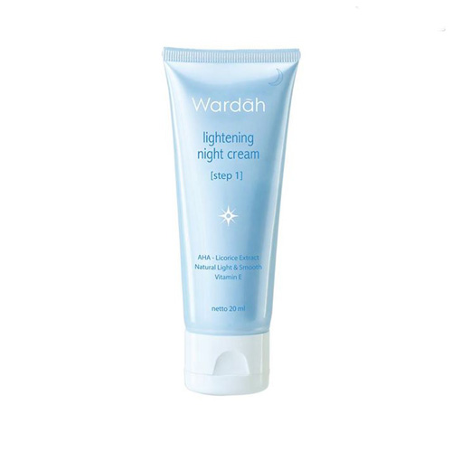 Wardah Lightening Night Cream Step 1 Tube Kecil 20 Ml