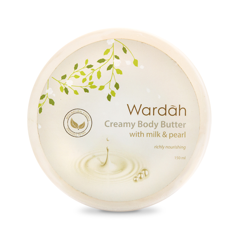 Wardah Body Butter Milk & Pearl 100 ml