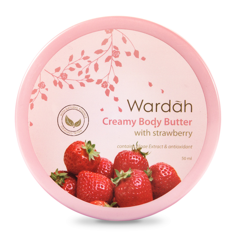 Wardah Creamy Body Butter Strawberry 50ml | Gogobli