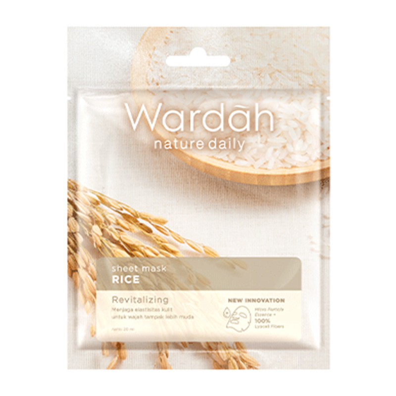 image about Daily Sheet referred to as Wardah Character Every day Sheet Mask Rice 20ml Gogobli